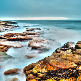 Rocky Shores by Stephen Fouche - Landscapes Waterscapes