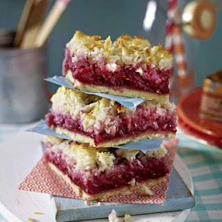 Coconut and Raspberry Bars
