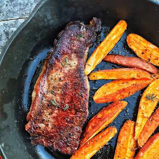 Cast Iron Garlic Steak & Potatoes.