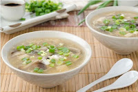 Clear Chicken Mushroom Soup