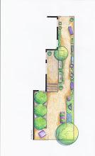 Photo: Illustrative overview plan of Amy Stewart's cocktail garden.  Garden design and illustration by Susan Morrison of Creative Exteriors Landscape Design.  http://www.celandscapedesign.com/index.html