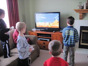 Photo: Kids playing Super Mario at Ian's Party