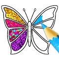Glitter Butterfly Coloring - Learn Colors APK