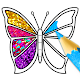 Glitter Butterfly Coloring - Learn Colors for kids