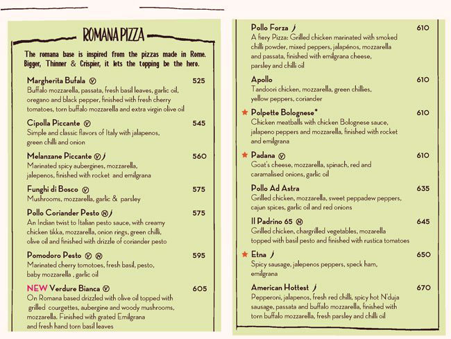 PizzaExpress menu 6