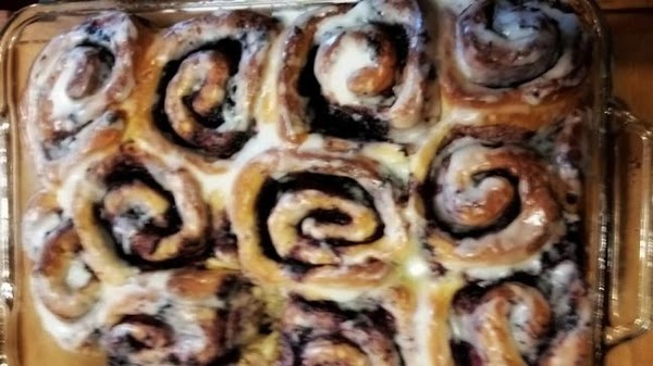 Sweet Blueberry Yeast Rolls (breadmaker) Recipe