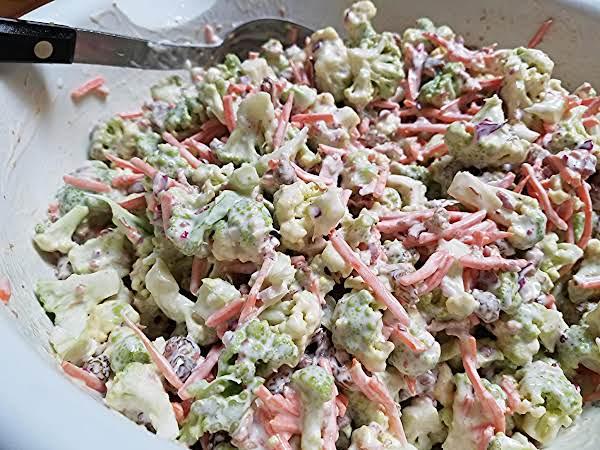 Broccoflower & Matchstick Carrot Salad Recipe