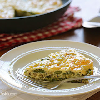 Asparagus and Swiss Cheese Frittata.