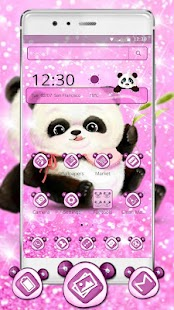 Cute Pink Panda Mobile Theme - náhled