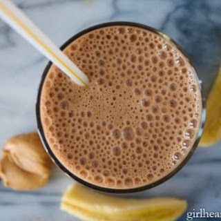 Peanut Butter, Banana, Cocoa and Coffee Smoothie.