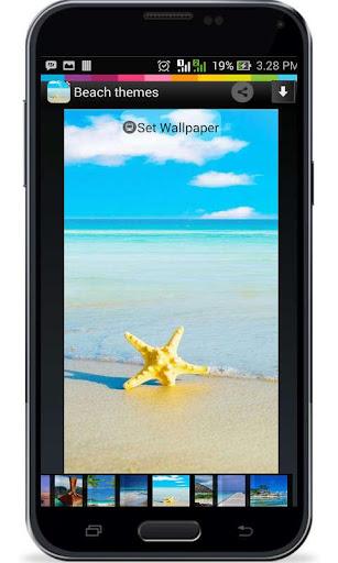 Tema Pantai untuk Android