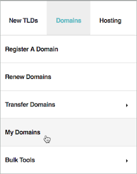 Domains and My Domains are selected.