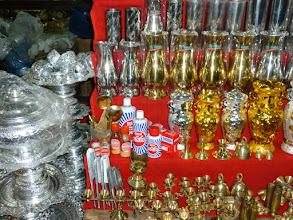 Photo: Surrounding the Pagoda are shops.  I was supprised to see Brasso among the things for sale.