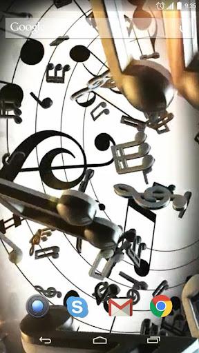 Musical Symbols Live Wallpaper