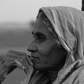Thinkin about new generation by Babu Mallick - People Portraits of Women