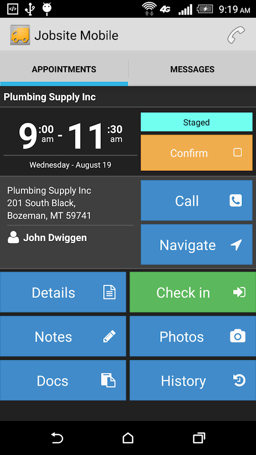 Jobsite Mobile- screenshot