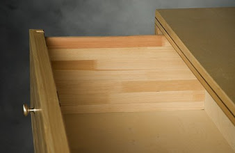 Photo: Sing products have beautiful wood grain inside and out! There's no fiberboard in our products.