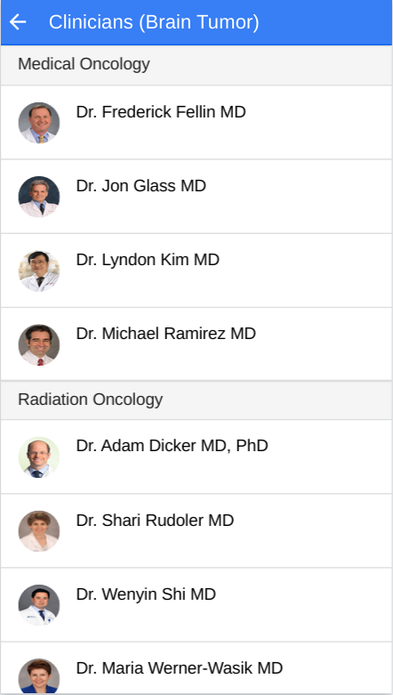 Cancer Docs- screenshot