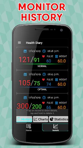 Blood Pressure : Blood Sugar : Body Temperature screenshot 21