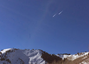 Photo: Tandem jets over Park City. Air Force?