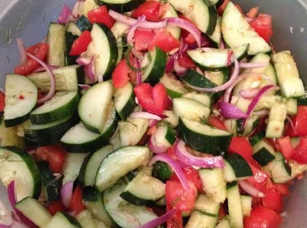 Cucumber & Tomato Salad Recipe