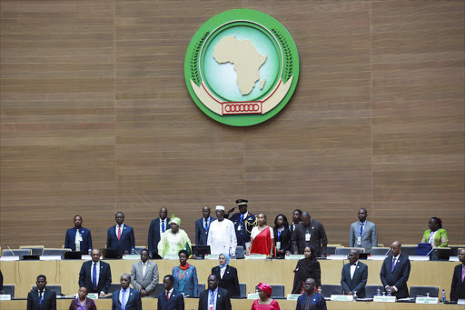 Heads of state at an African Union session in Addis Ababa. File photo.
