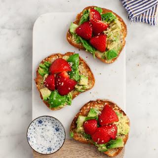 Strawberry Basil Smashed Avocado Toast