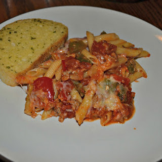 Sausage and Peppers Baked Penne