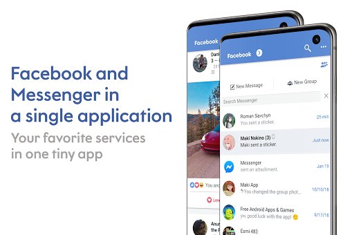 Maki: Facebook and Messenger in one awesome app 3.7 Sakura screenshots 1