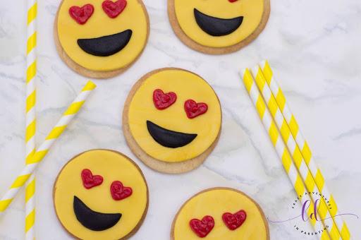 Heart Eyes Emoji Cookies