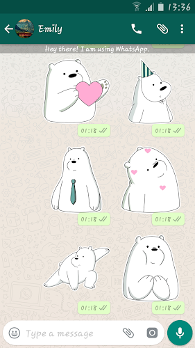 Download Ice Bear Stickers For Whatsapp Wasticker Apk Latest