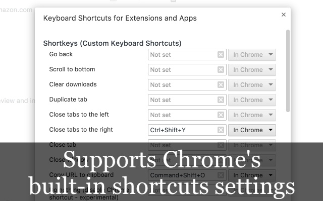 Shortkeys (Custom Keyboard Shortcuts)