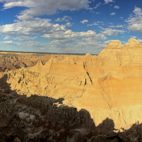 Badlands Pano 2 by J.c. Phelps - Landscapes Mountains & Hills ( hills, mountains, cliffs, badlands, panorama )