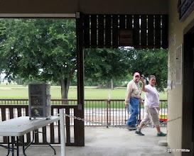Photo: Bob Barnett and Elizabeth Alexander getting concession supplies out.   HALS Public Run Day  2016-0716  RPWhite