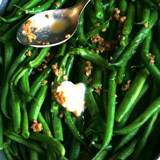 Roasted Garlic and Butter Haricots Vert