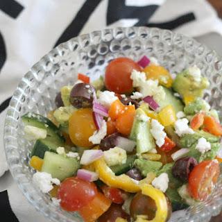 Rainbow Tomato Feta Salad
