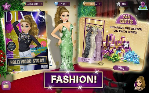 Hollywood Story Mod Apk Fashion Star 10.1 (Free Shopping) 10