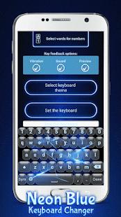 Modré Klávesnice pro Mobil - náhled