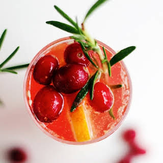 Cranberry Rosemary Champagne Cocktails.