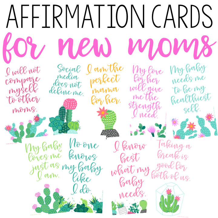 Affirmation Cards for New Moms