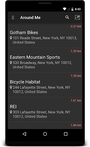 Locate Bicycle Store