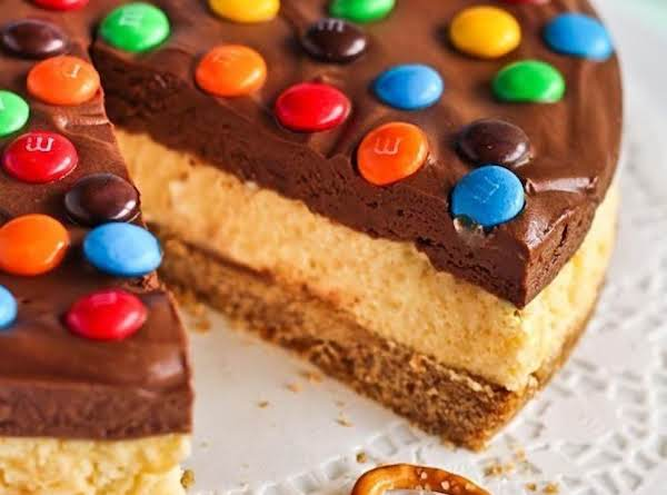 Chocolate Mousse Cheesecake With M&m's And Salted