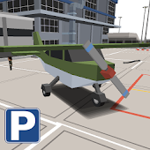 Blocky Airplane Airport Park