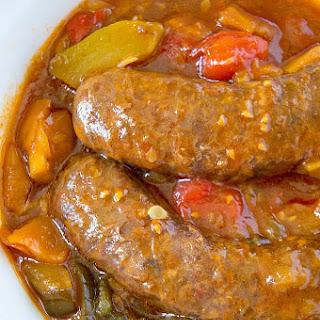 Crockpot Sausage and Vegetables.