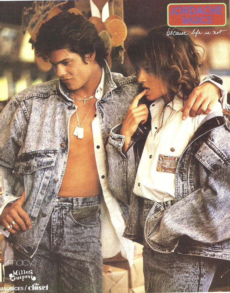 Image result for 80s acid wash jeans