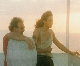 Photo: At the ship Agia Dynamy 1995 with Captain Kostas south of Cyprous