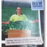 farmer displays his produce