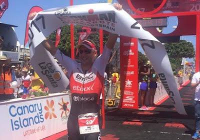 Fantastisch, Aernouts wint Iron Man van Lanzarote