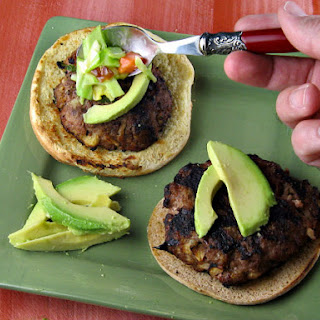 Jerk Turkey Burgers with Mango Slaw