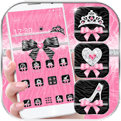Pink Zebra Theme and Black Bow